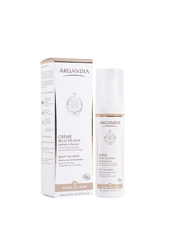 Crème Hydratante visage huile d argan bio cosmetique bio creme nourrissante50ml