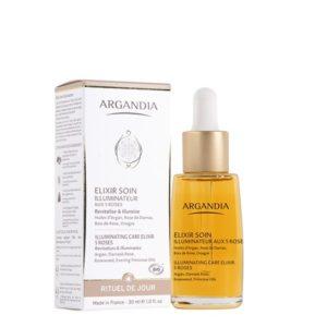 Elixir aux 5 Roses Argan huile essentielle serum visage huile d argan