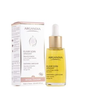 Elixir Apaisant Argan serum visage peau sensible huile d argan bio